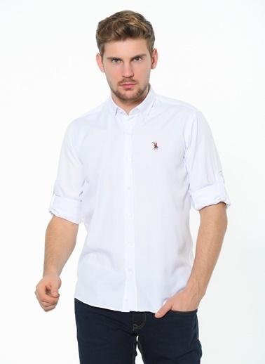 Dewberry Uzun Kol Shirt Neck Erkek Gömlek Beyaz